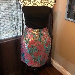 Dresses & Skirts - Black/ floral zipper back dress